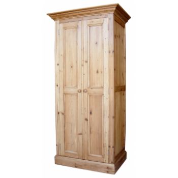 OBW Antique Pine Single Full Hanging Wardrobe