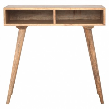Mango Wood Nordic Style Open Shelf Writing Desk