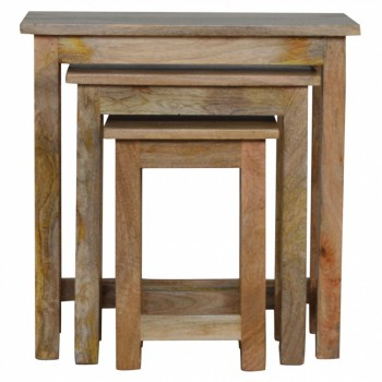Mango Wood Nest of Tables / Stools