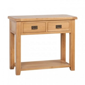 OBW Classic Oak 2 Drawer Console Table