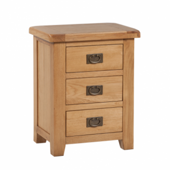 OBW Classic Oak 3 Drawer Bedside
