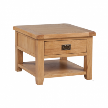 OBW Classic Oak Lamp Table with Drawer
