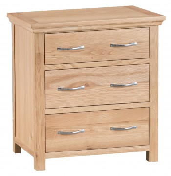 Tyneham Oak 3 Drawer Chest