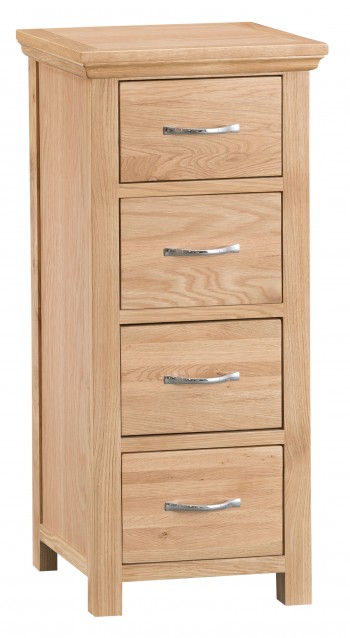 Tyneham Oak 4 Drawer Narrow Chest