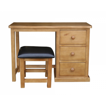 OBW Chunky Pine Dressing Table & Stool