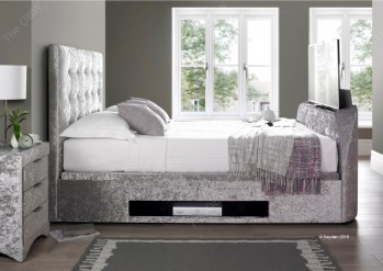 BAR TV Bed & Ottoman Fabric Bed Frame