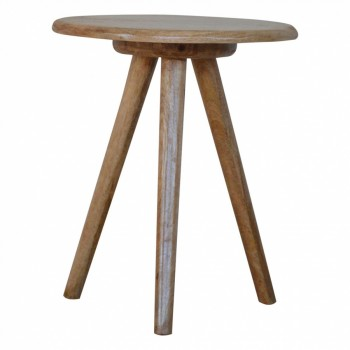 Mango Wood Round Lamp Table