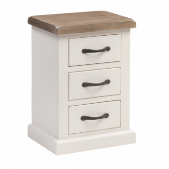 OBW Painted Pine Small 3 Drawer Bedside