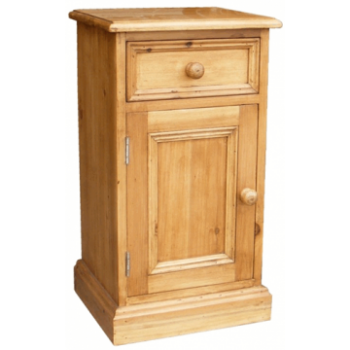 OBW Antique Pine 1 Door 1 Drawer Bedside (Left)