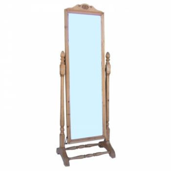 OBW Antique Pine Cheval Mirror