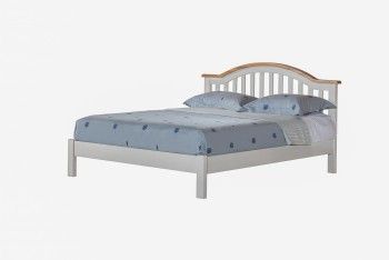 OBW Grey Painted Pine Bed Frame