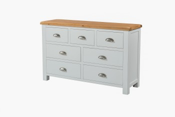 OBW Grey Painted Pine 3 Over 4 Chest