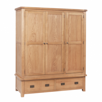 OBW Classic Oak Triple Wardrobe