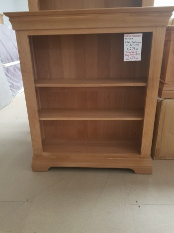CLEARANCE Oak Low Bookcase