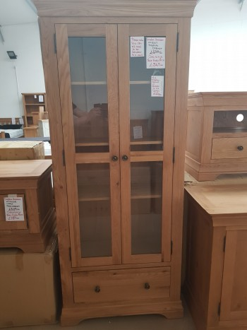 CLEARANCE Oak Display Cabinet
