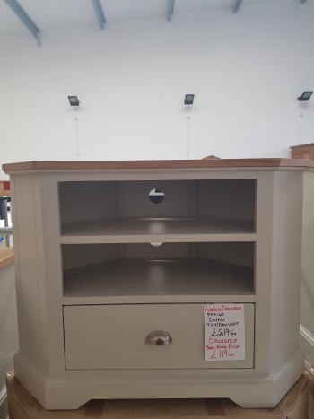 CLEARANCE Corner TV Unit