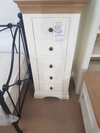 CLEARANCE Painted 5 Drawer Tall Chest