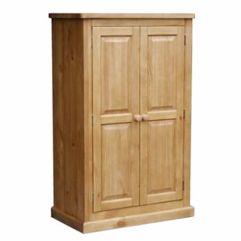 OBW Chunky Pine Compact Double Wardrobe