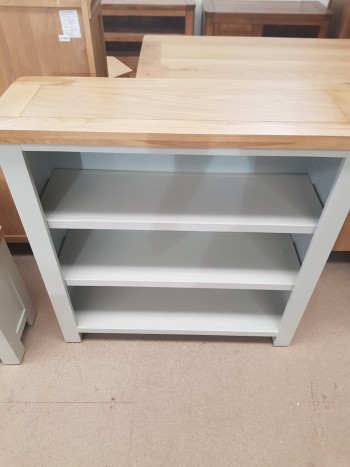 CLEARANCE Grey Painted Small Bookcase