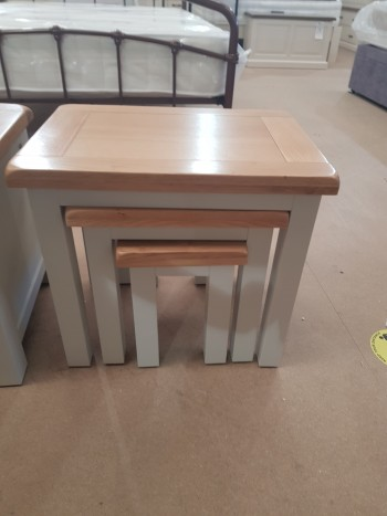 CLEARANCE Grey Painted Nest of Tables