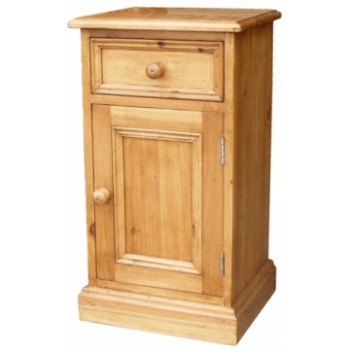 OBW Antique Pine 1 Door 1 Drawer Bedside (Right)