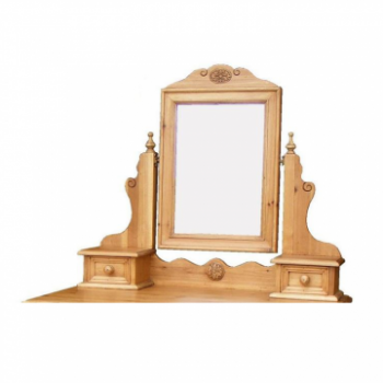 OBW Antique Pine 2 Drawer Dressing Mirror