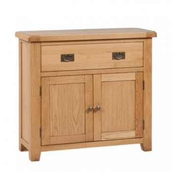 OBW Classic Oak 1 Drawer 2 Door Small Sideboard