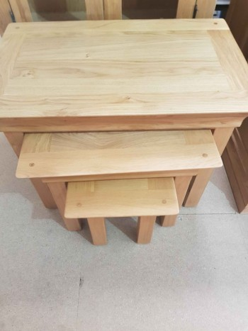 CLEARANCE Oak Nest of Tables