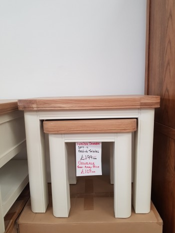 CLEARANCE Nest of 2 Tables