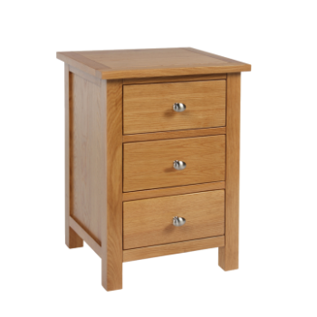 OBW Modern Oak 3 Drawer Bedside