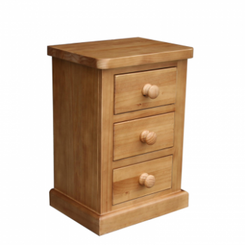 OBW Chunky Pine Small 3 Drawer Bedside