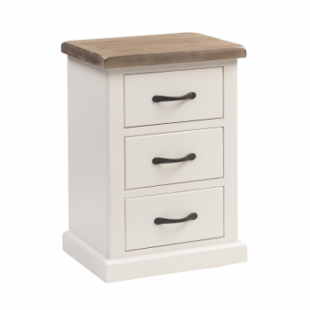 OBW Painted Pine Large 3 Drawer Bedside